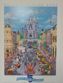 Melanie Taylor, Walt Disney World, 15th Anniversary, Mickey Mouse, Minnie Mouse, Goofy, Kids Room, Children's Art