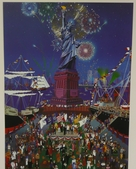 Melanie Taylor, Liberty, Fireworks, 4th of July,  Statue of Liberty, New York