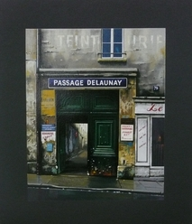 Thomas Pradzynsky, Passages, Paris, Paris Street Scene, Paris Shops, Hotel Art, Designer Art, Corporate Art, Restaurant Art