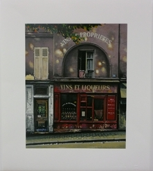 Thomas Pradzynski, Merchants, Liquor, Paris Street, Paris Shops, Designer Art, Bar Art, Restaurant Art