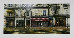 Thomas Pradzynski, Cafe de Paris, Antiques, Parisian, Designer Art, restaurant Art, Corporate Art