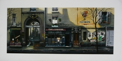 Thomas Pradzynski, Passages, Cafe et Liqeurs, Paris,  Street Scenes, Designer Art, Decor Art, Restauranteur Art, Corporate Art, Large Format Art