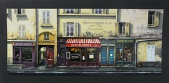 Thomas Pradzynski, Caves de France, Paris Street Scene, Park, Hotel Art, Decor Art, Designer Art, Restaurant Art, Corporate Art